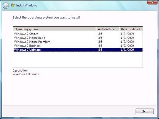 Windows 7 Build 7025 Install