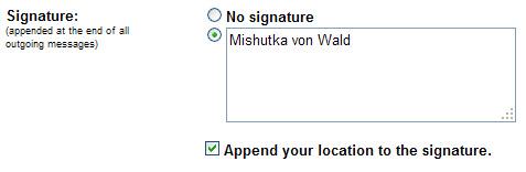 Lokasi Pada Signature