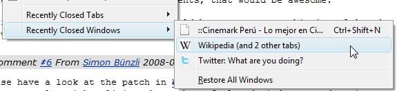 Firefox - Restore Tetingkap