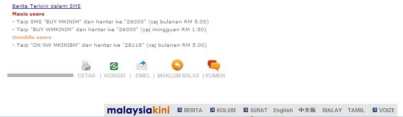 MalaysiaKini Footer
