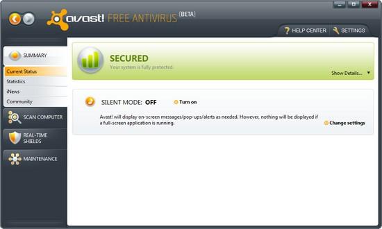 Avast 5.0 Beta Free AV