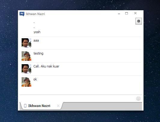Facebook Messenger Pada Windows
