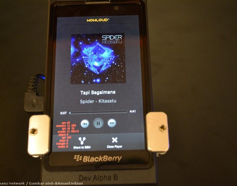 Eksklusif : Pandang Pertama Aplikasi WOWLoud Pada BlackBerry 10