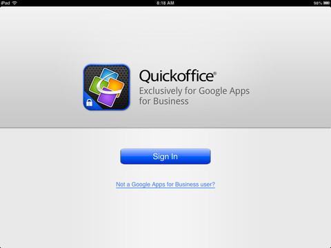 QuickOffice untuk Pelanggan Google Apps