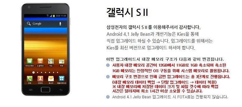 Samsung Galaxy S2 - Jelly Bean