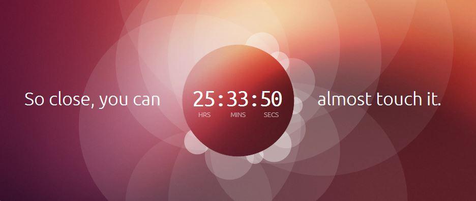 Ubuntu.com Countdown