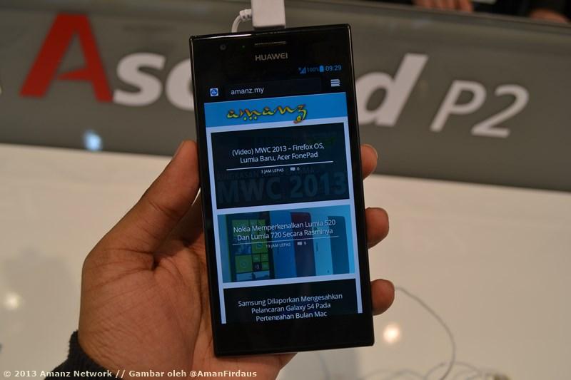MWC 2013 : Huawei Ascend P2