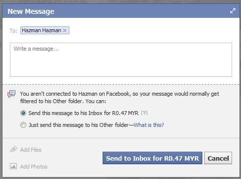 Facebook Inbox Berbayar