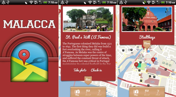 Malacca Offline Travel Map