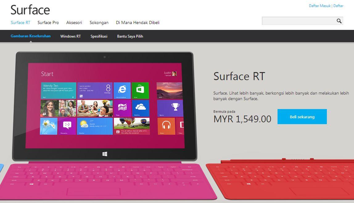 Surface RT Malaysia