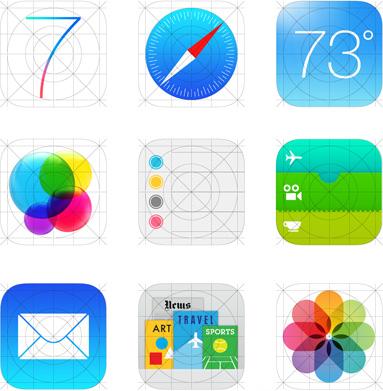 iOS 7 - Ikon Aplikasi Baru