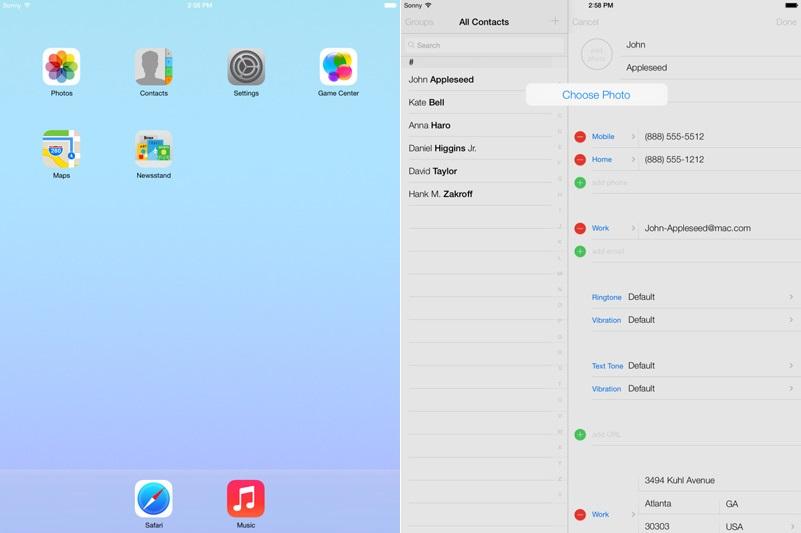 iOS7 - iPad
