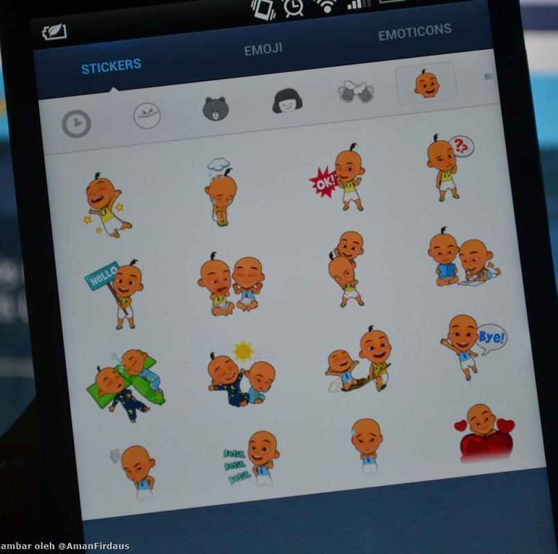 """""""Sticker"""" Upin dan Ipin Kini Ditawarkan Untuk Pengguna Aplikasi Permesejan LINE"""