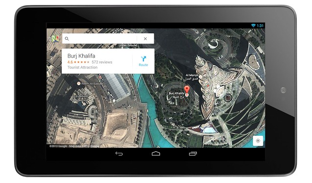 Google Maps Tablet