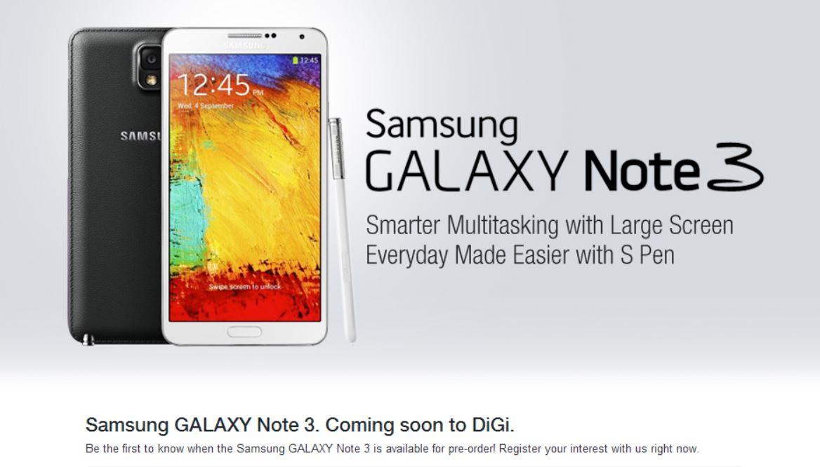 Galaxy Note 3 - DiGI