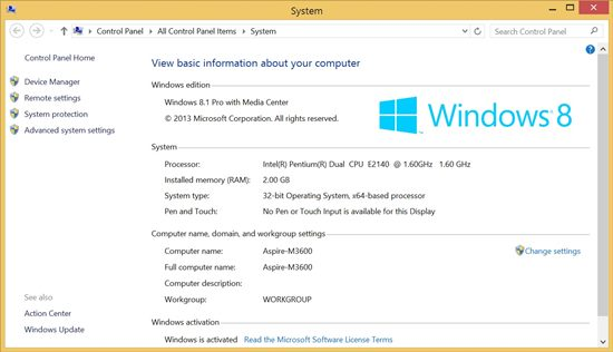 Windows 8.1 - WEI