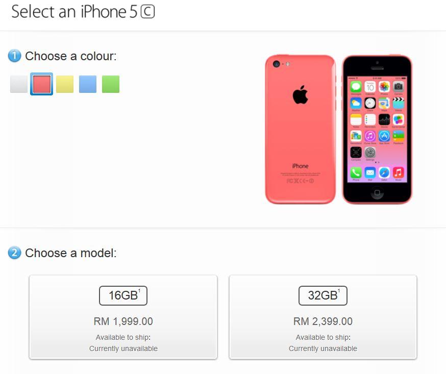 iPhone 5C Malaysia
