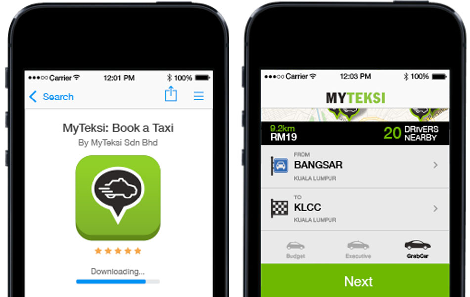 myteksi-grabcar-interface