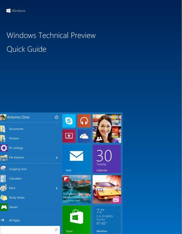 Panduan Windows 10 Technical Preview