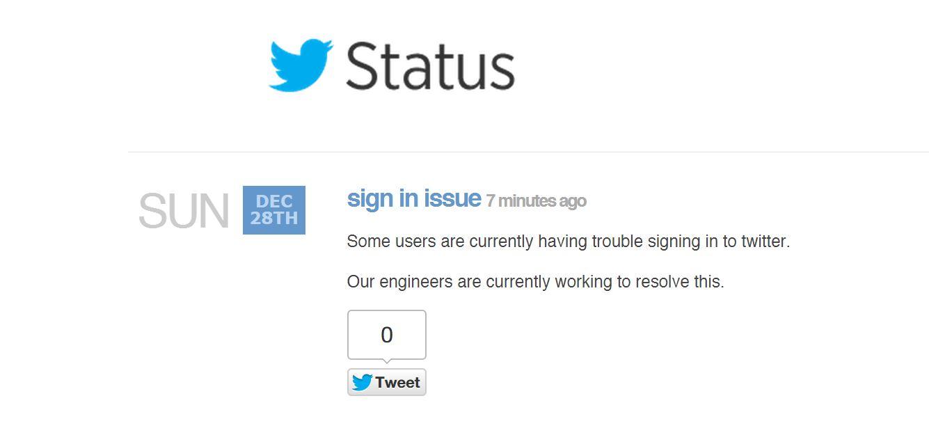 Status Twitter