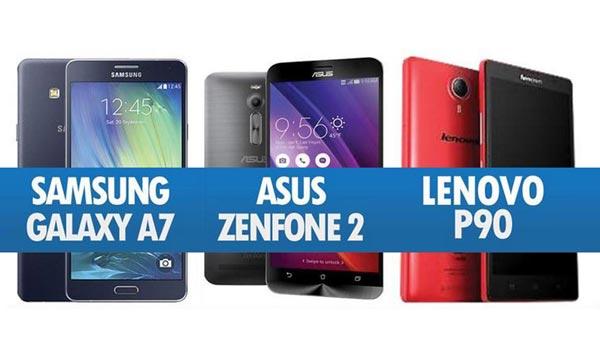 Perbandingan Samsung Galaxy A7, Asus Zenfone 2 & Lenovo P90