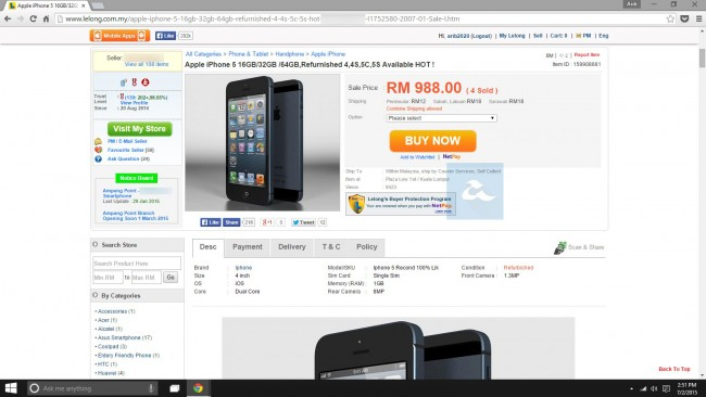 Lelong iPhone Refurbished