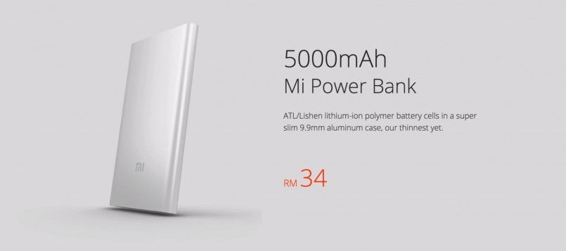 Xiaomi Malaysia Menyenaraikan Mi Power Bank Ternipis Pada Harga RM34