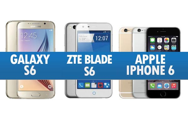 Perbandingan Samsung Galaxy S6, ZTE Blade S6 & iPhone 6