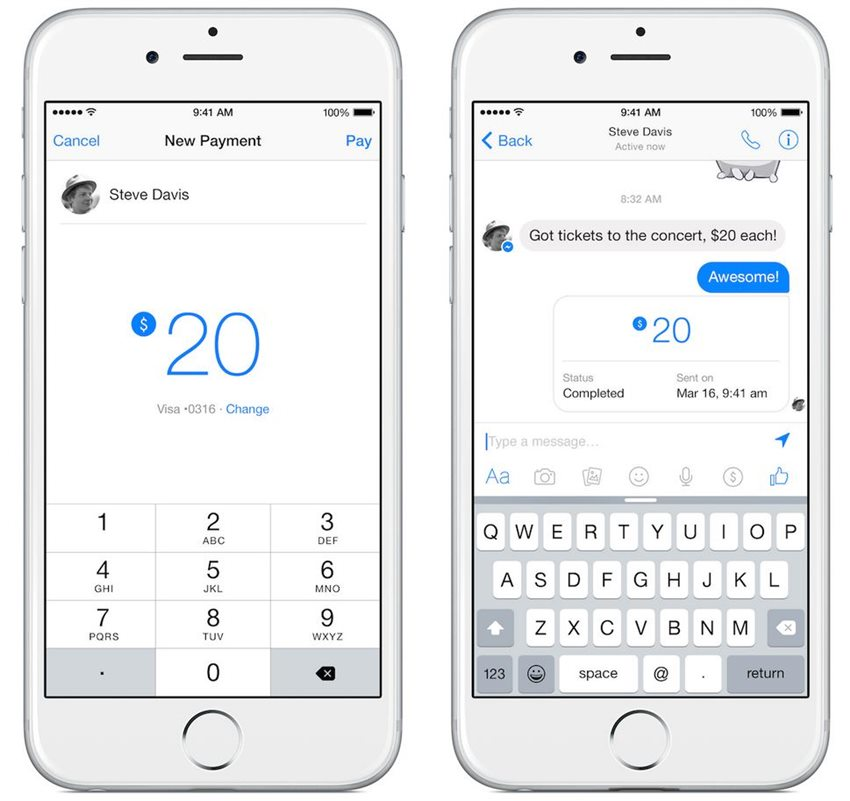 Facebook Messenger Pay