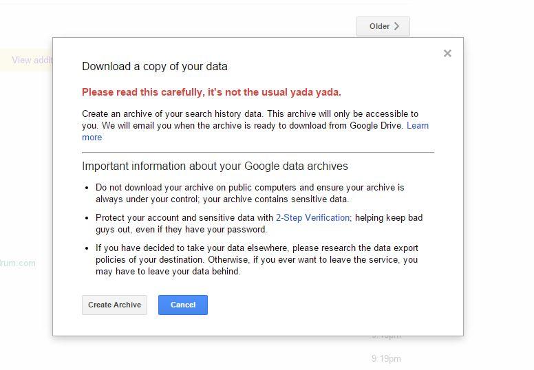 Kini Anda Boleh Memuat Turun Data Berkaitan Sejarah Carian Google Anda