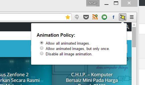Kawal Gambar Beranimasi Yang Dipaparkan Pada Web Melalui Pemalam Khusus Daripada Google Untuk Chrome