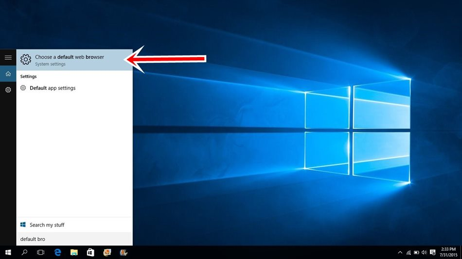 Windows 10 Default