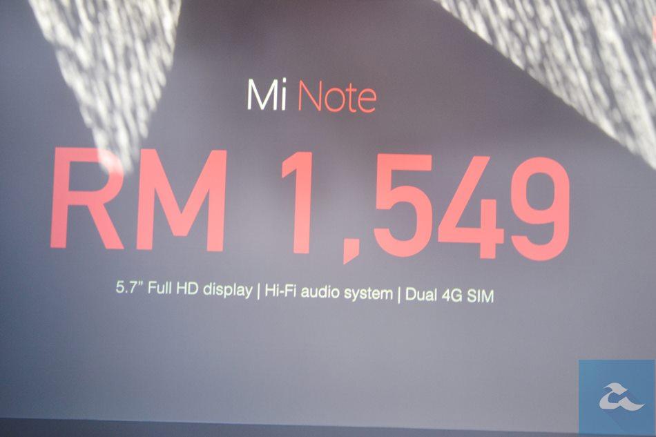 Xiaomi Mi Note Malaysia