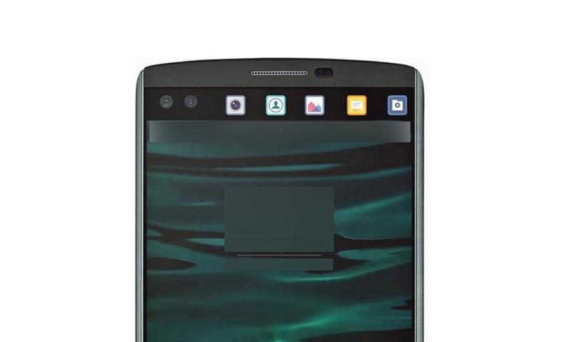 Gambar LG V10 Dengan Dua Skrin Dan Dua Kamera Pada Bahagian Hadapan Tertiris