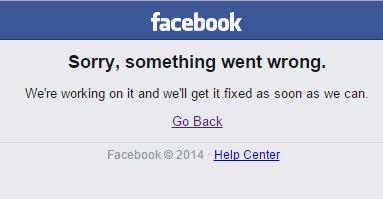 Facebook Masalah