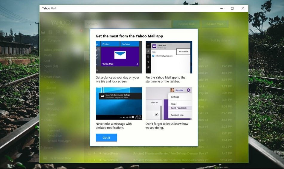 Yahoo! Mail Windows 10