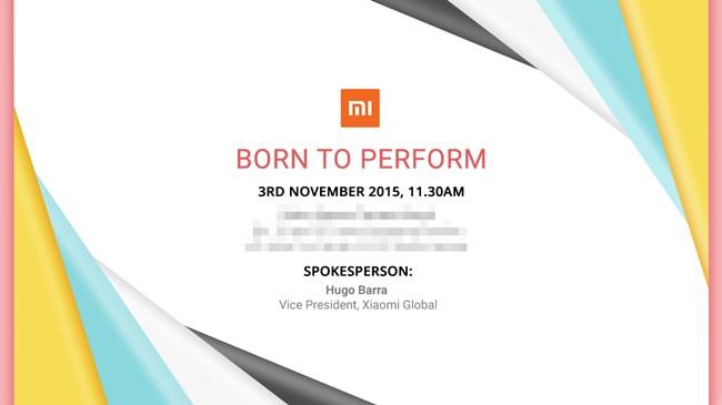 Xiaomi 3 November