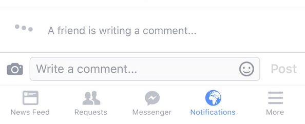 Facebook Komen Ditaip