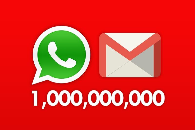 Whatsapp-Gmail-billion