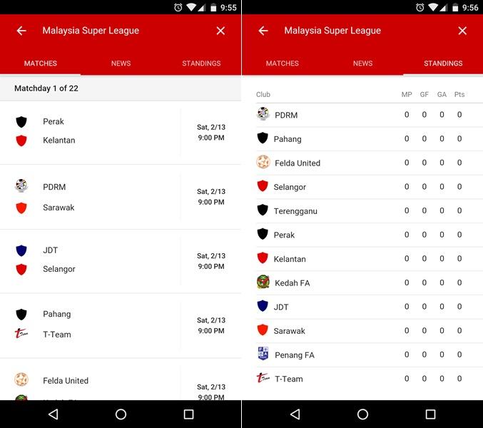 Google Now Liga Malaysia