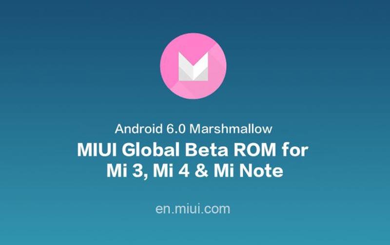 MIUI Global Beta ROM Berasaskan Marshmallow Kini Boleh Dimuat Turun