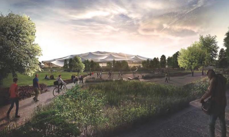 Rekaan Kampus Terbaru Google Diperlihatkan – Seakan Khemah Gergasi Dengan Panel Solar Terbina