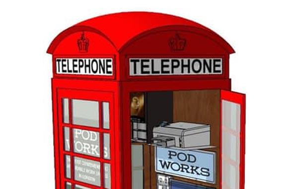 Pod Works – Pondok Telefon Awam Diubahsuai Menjadi Pejabat Mini