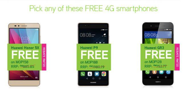 Maxis Raya Free Phone