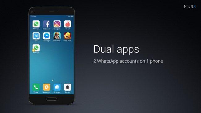 Xiaomi Akan Menyertakan Fungsi Menggunakan Dua Akaun WhatsApp Pada MIUI8