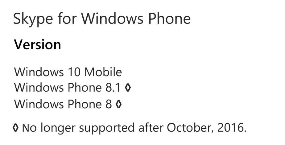 Skype Windows Phone 8.1
