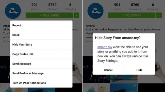 Instagram Hide Your Story