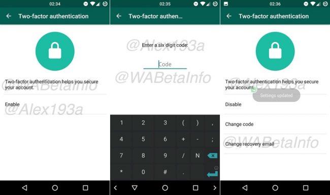WhatsApp Beta Dwi-Faktor