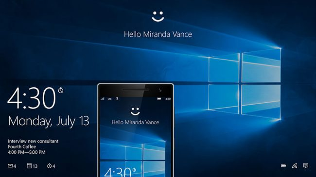 Windows Hello Anniversary Update