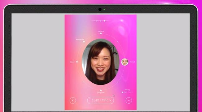 Tele Beauty – Sistem Solekan Maya Untuk Skype Diperkenalkan Di Jepun